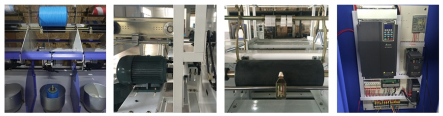 PLC control pp/polyester two for one yarn twisting machine
