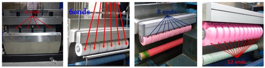 Полностью автоматическая машина завальцовки пряжи с намоточной головкой FDY/BCF/POY/CF
