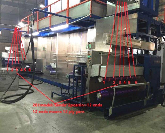 Экструдер для производства полипропиленового мультифиламента JM261 FDY