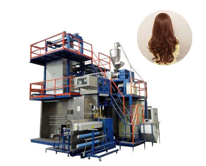 Машина для производства искусственных волосков полипропиленым волокном FDY